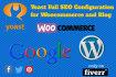 do yoast wordpress plugin full SEO configuration for woocommerce website or blog