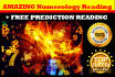 give a GENUINE Numerology Reading about your Life
