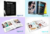make photo realistic 3d magazine cover or inside page mockup