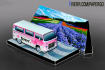 make a papercraft Volkswagen T2 Kombi with your mesage on it