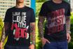 design cartoonish and Typography tshirt