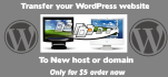 transfer your WordPress site to new web host or new domain