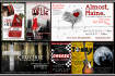 create show posters, flyers, or program covers for the stage