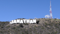 write your text on HollyWood hills