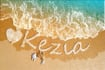 write your name or message on beach
