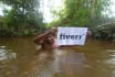 find your website or any message in natural water stream
