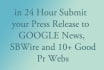 submit your Press Release to Sbwire plus 20 syndications