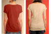 create 5 professional female Tshirt mockups