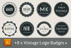 design your LOGO As Vintage or Modern Badge for your Business Brand Company