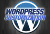 install, Customise WordPress and fix errors, Issues