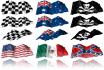 send you 3D Clip Art Flags or make a custom flag