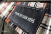 place your logo in 3 realistic clothing tags