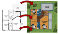 make 2D floor plan to 2D colorful and realistic 2d render floor plan