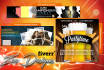 create a professional web banner, header, facebook cover