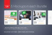 give 1 Device Mockups Bundle which contains 5 psd mockups