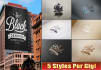 create 5 mockup style images with your logo