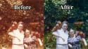 restore colors in vintage pictures