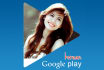 design Your photo into a Google Play Music Star