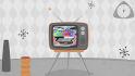 make a Retro TV style animation video