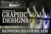 design your professional Banner,Header or Advertisement