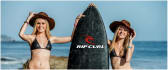 display your logo on surfboard with a sexy girl