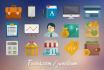 design a flat web icon set