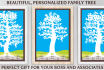 create a PERSONALIZED family tree poster art