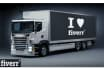 place your logo or your message on a truck