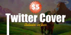 make an awsome twitter cover and profile image
