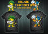 place your design into REALISTIC t shirt mock up