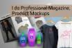 do fashion catalog, lookbook, product mockup
