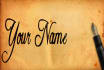 hand write Your Name or Sign