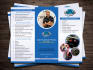 create half and tri fold brochures design