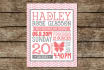 customize this baby girl announcement for you