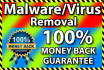 remove Malware or Virus from Your Website with Money Back GUARANTEE