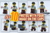 place your logo on 10 cups held by a LEGO Geek