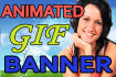 create two animated gif of your logo or banner