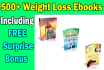 give you over 500 MRR,Plr Weight Loss,Health EBooks,Articles