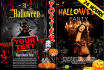 design halloween flyer,web cover or invitation
