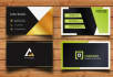professionally design appealing BUSINESS card in 12 hours