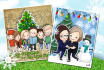 do a Christmas greeting card caricature