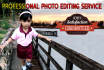 retouch or edit your  photo using Adobe Photoshop