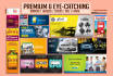 design Eye Catching web banners,headers,ads