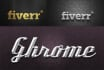 create realistic Metal Gold Silver and Chrome Logo 15 styles