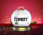 put your logo or text in Christmas snow globe