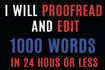 meticulously proofread and edit 5000 words