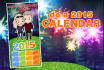do a New Year greeting card or calendar caricature