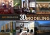 create 3d architecture model visualization on your plans