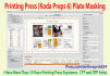 do CTP Printing Press Kodak Plate Masking