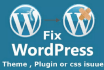 build a website in wordpress and fix issues